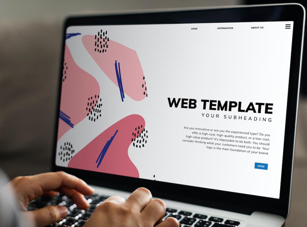 Website maken met template